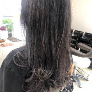 ブルーグラデーション ナチュラル ブラックバイオレット デート ヘアスタイルや髪型の写真・画像