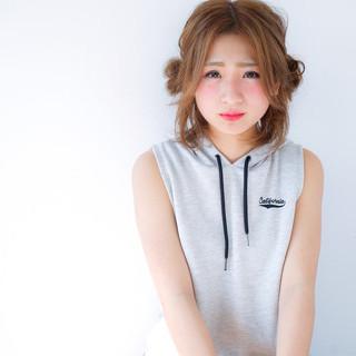 ゆるふわ フェミニン 簡単ヘアアレンジ ピュア ヘアスタイルや髪型の写真・画像
