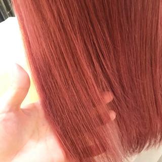 ガーリー ピンク ロング 透明感 ヘアスタイルや髪型の写真・画像