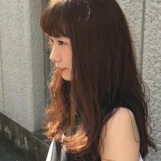 ピュア 透明感 ロング 前髪あり ヘアスタイルや髪型の写真・画像
