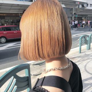 ミルクティーベージュ ヌーディーベージュ ベージュ モード ヘアスタイルや髪型の写真・画像