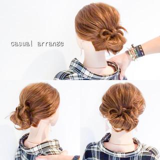 ロング フェミニン アップスタイル まとめ髪 ヘアスタイルや髪型の写真・画像