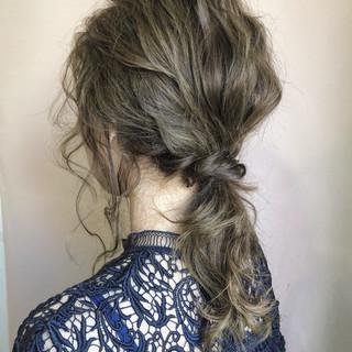 ミディアム 結婚式 外国人風カラー ナチュラル ヘアスタイルや髪型の写真・画像