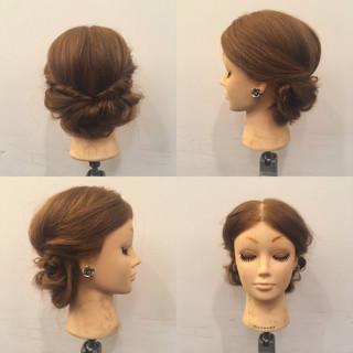 結婚式 ヘアアレンジ セミロング パーティ ヘアスタイルや髪型の写真・画像
