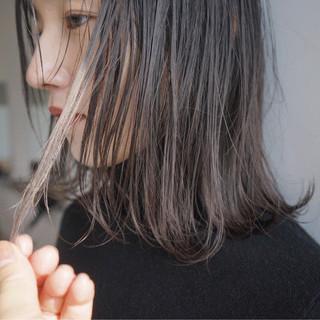 透明感 ナチュラル ミルクティーベージュ ボブ ヘアスタイルや髪型の写真・画像