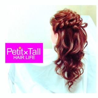 ヘアアレンジ ハーフアップ 簡単ヘアアレンジ ショート ヘアスタイルや髪型の写真・画像 ヘアスタイルや髪型の写真・画像