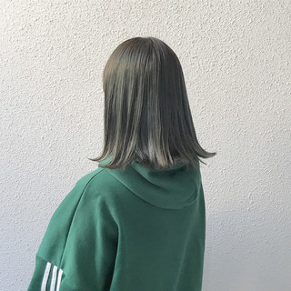 外国人風 ブリーチ ダブルカラー ミディアム ヘアスタイルや髪型の写真・画像
