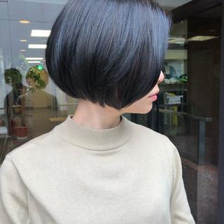 ミニボブ グレージュ ナチュラル ボブ ヘアスタイルや髪型の写真・画像 ヘアスタイルや髪型の写真・画像