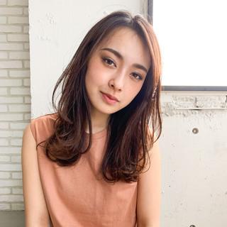 前髪パーマ デート デジタルパーマ フェミニン ヘアスタイルや髪型の写真・画像