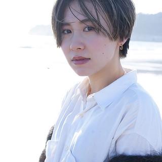 外国人風 ショート 大人ハイライト ショートヘア ヘアスタイルや髪型の写真・画像