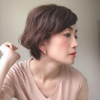 40代 くせ毛 ボブ 簡単 ヘアスタイルや髪型の写真・画像