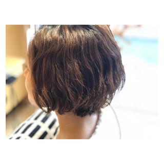 くせ毛風 ボブ ショートボブ ヘアアレンジ ヘアスタイルや髪型の写真・画像