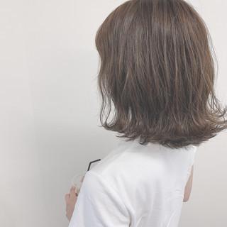 ボブ ワンレングス 切りっぱなしボブ ナチュラル ヘアスタイルや髪型の写真・画像