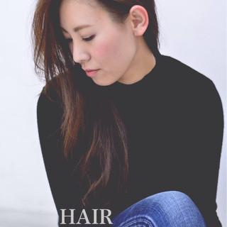 前髪あり ナチュラル フェミニン ロング ヘアスタイルや髪型の写真・画像