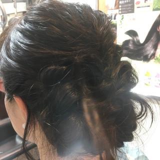 ヘアアレンジ フェミニン 花火大会 お祭り ヘアスタイルや髪型の写真・画像