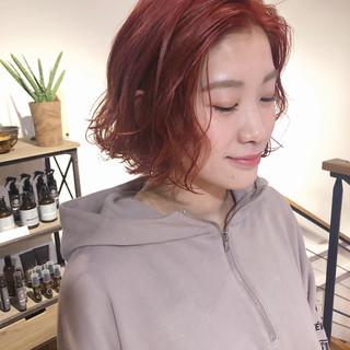 外国人風カラー 透明感 春 ボブ ヘアスタイルや髪型の写真・画像