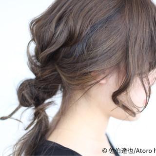 外国人風 大人かわいい ヘアアレンジ セミロング ヘアスタイルや髪型の写真・画像