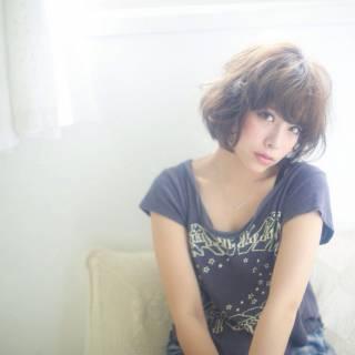 ショート 大人かわいい 卵型 愛され ヘアスタイルや髪型の写真・画像