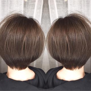 ナチュラル デート オフィス マッシュ ヘアスタイルや髪型の写真・画像