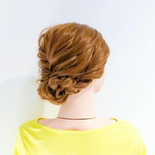 ヘアアレンジ フェミニン ロープ編み ロング ヘアスタイルや髪型の写真・画像