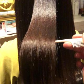 髪質改善 髪質改善カラー 美髪 縮毛矯正 ヘアスタイルや髪型の写真・画像