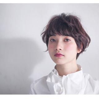 パーマ モード ショート ナチュラル ヘアスタイルや髪型の写真・画像 ヘアスタイルや髪型の写真・画像