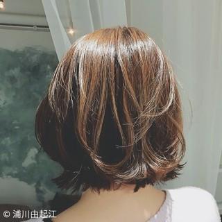 グラデーションカラー デート ボブ フェミニン ヘアスタイルや髪型の写真・画像 ヘアスタイルや髪型の写真・画像