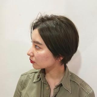 N.オイル ハンサムショート マットグレージュ ショート ヘアスタイルや髪型の写真・画像