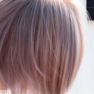 ストリート ブリーチ ボブ バレイヤージュ ヘアスタイルや髪型の写真・画像