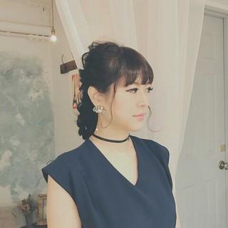 大人女子 ロング ヘアアレンジ 大人かわいい ヘアスタイルや髪型の写真・画像