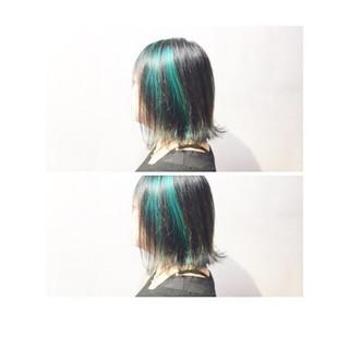 外国人風カラー パープル ストリート ホワイトアッシュ ヘアスタイルや髪型の写真・画像