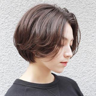モテボブ アッシュグラデーション ナチュラル ボブ ヘアスタイルや髪型の写真・画像