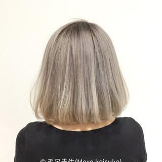 モード ブリーチ ホワイト ボブ ヘアスタイルや髪型の写真・画像 ヘアスタイルや髪型の写真・画像