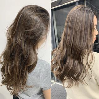 外国人風 ガーリー ハイライト ブロンド ヘアスタイルや髪型の写真・画像