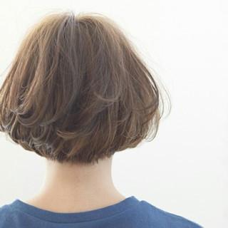 簡単 ショート ショートボブ パーマ ヘアスタイルや髪型の写真・画像