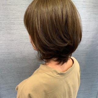ボブ 大人ハイライト エレガント 秋 ヘアスタイルや髪型の写真・画像