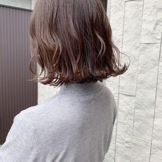 ボブ アッシュ 外ハネ 外ハネボブ ヘアスタイルや髪型の写真・画像