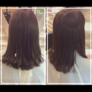 髪質改善トリートメント セミロング 社会人の味方 ナチュラル ヘアスタイルや髪型の写真・画像