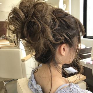 デート 結婚式 ロング お団子 ヘアスタイルや髪型の写真・画像 ヘアスタイルや髪型の写真・画像
