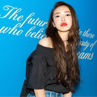 ブルージュ 外国人風 ウェットヘア ブラウン ヘアスタイルや髪型の写真・画像