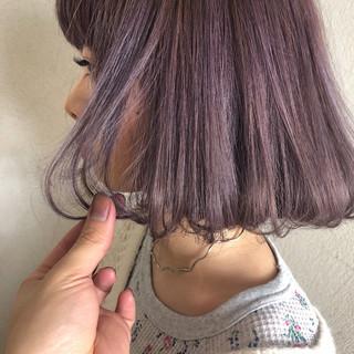 ボブ フェミニン ブルー 透明感 ヘアスタイルや髪型の写真・画像