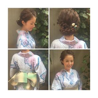 花火大会 ヘアアレンジ 夏 ショート ヘアスタイルや髪型の写真・画像 ヘアスタイルや髪型の写真・画像