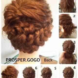 くるりんぱ 結婚式 ヘアアレンジ 二次会 ヘアスタイルや髪型の写真・画像
