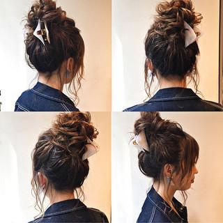 ヘアアレンジ ミディアム 上品 エレガント ヘアスタイルや髪型の写真・画像 ヘアスタイルや髪型の写真・画像