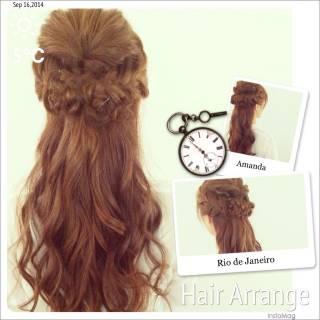 コンサバ 簡単ヘアアレンジ ショート 編み込み ヘアスタイルや髪型の写真・画像 ヘアスタイルや髪型の写真・画像