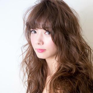 モテ髪 ブラウン パーマ ナチュラル ヘアスタイルや髪型の写真・画像