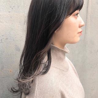 大人かわいい 黒髪 ロング デート ヘアスタイルや髪型の写真・画像