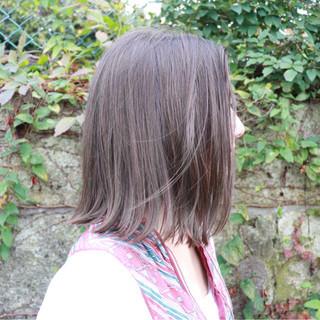ロブ 外国人風 切りっぱなし ボブ ヘアスタイルや髪型の写真・画像 ヘアスタイルや髪型の写真・画像