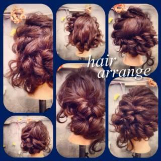 アップスタイル ヘアアレンジ 編み込み コンサバ ヘアスタイルや髪型の写真・画像