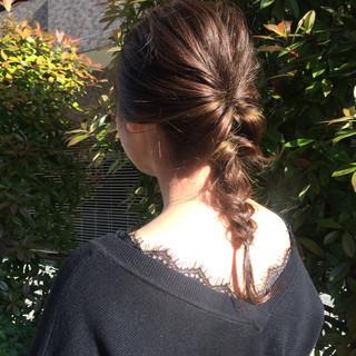 くるりんぱ 女子会 ナチュラル ヘアアレンジ ヘアスタイルや髪型の写真・画像 ヘアスタイルや髪型の写真・画像